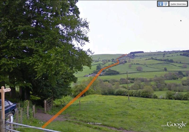 La Digue d'Offa (Offa's Dyke), frontière entre l'Angleterre et le Pays de Galles Sentie11