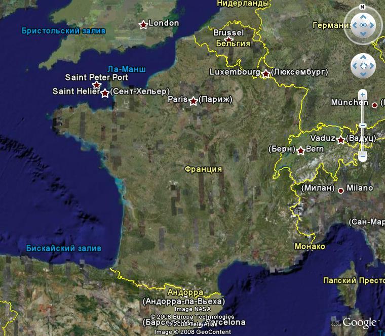 La France sous toutes ses coutures avec Google Earth Urss10