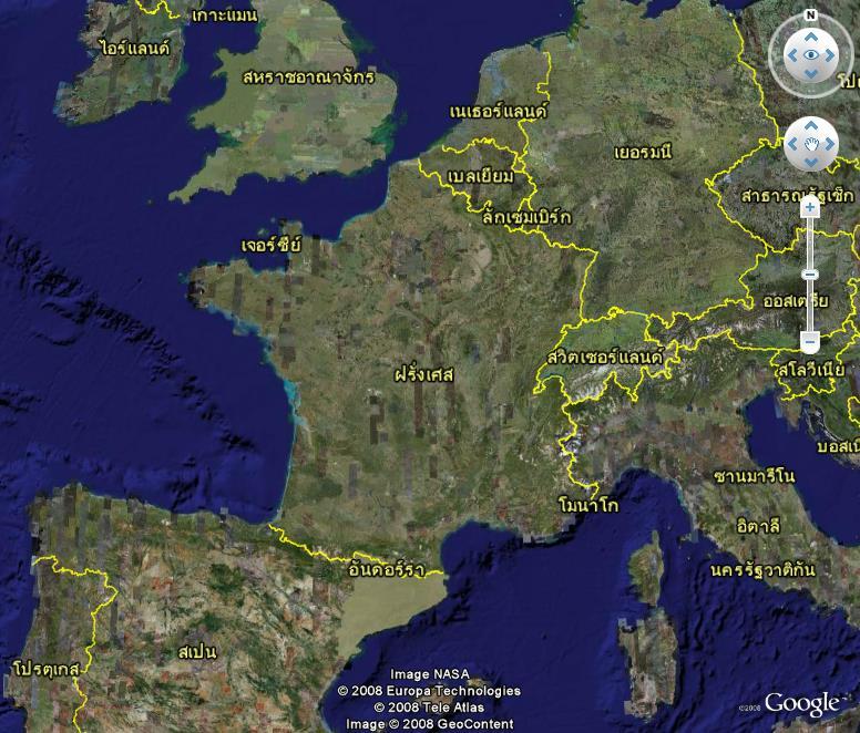 La France sous toutes ses coutures avec Google Earth Versio12
