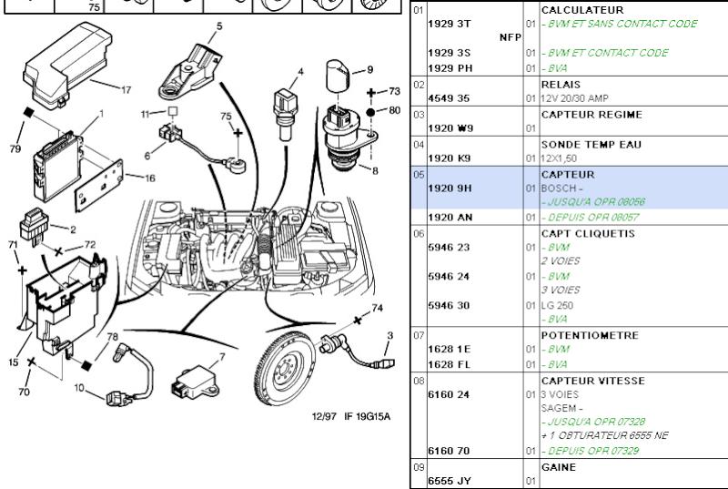 [ Peugeot 406 essence inject 1.8 16v an 1999 ] demarrage difficile a chaud  406_1_10
