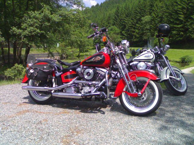 Revell 07977-Harley Davidson Heritage Softail Classic FERTIG H111