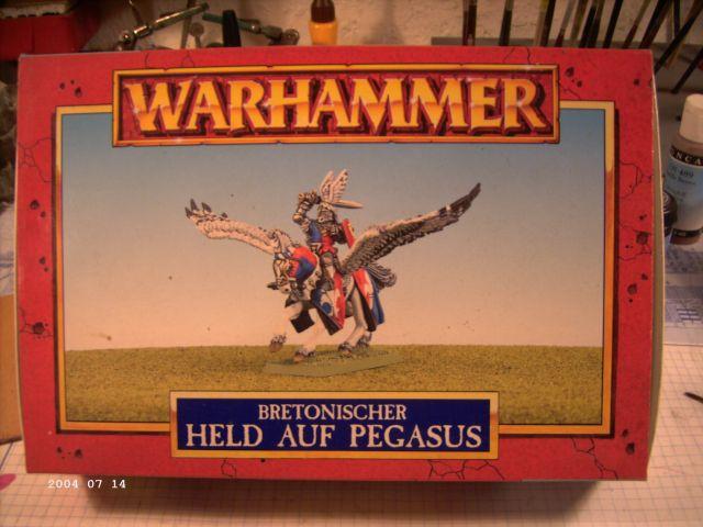 Warhammer - Bretonischer Held auf Pegasus - Fertig P110