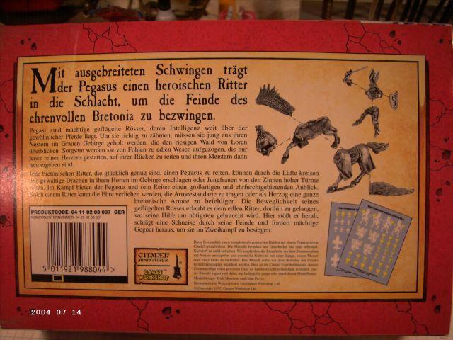 Warhammer - Bretonischer Held auf Pegasus - Fertig P210
