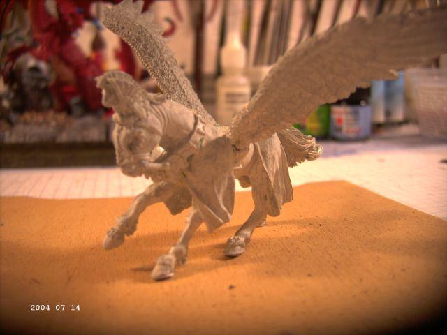 Warhammer - Bretonischer Held auf Pegasus - Fertig P310