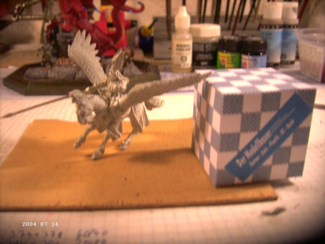 Warhammer - Bretonischer Held auf Pegasus - Fertig P510