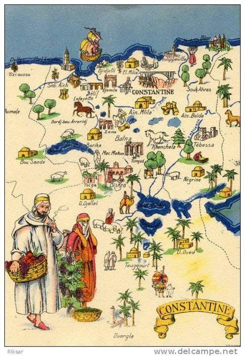 Carte de la région Constantinoise - Ain M'lila  Ainmli10