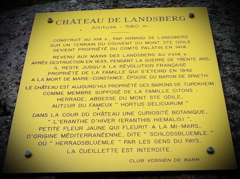 Le Château du Landsberg Plaque10