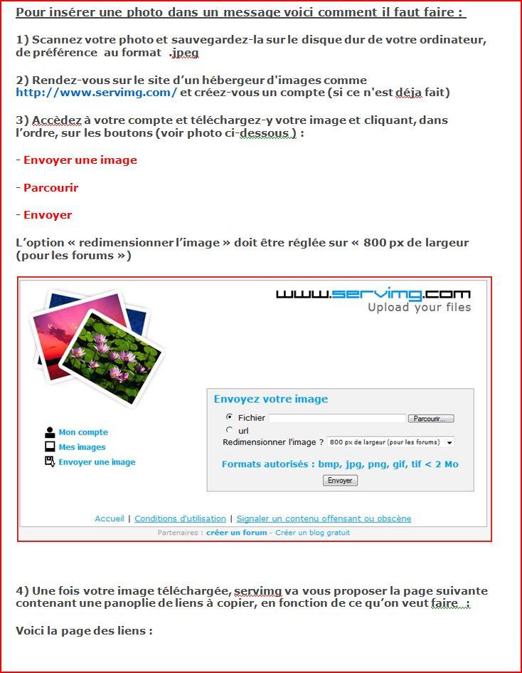Comment insérer une image dans vos messages ? Telech10