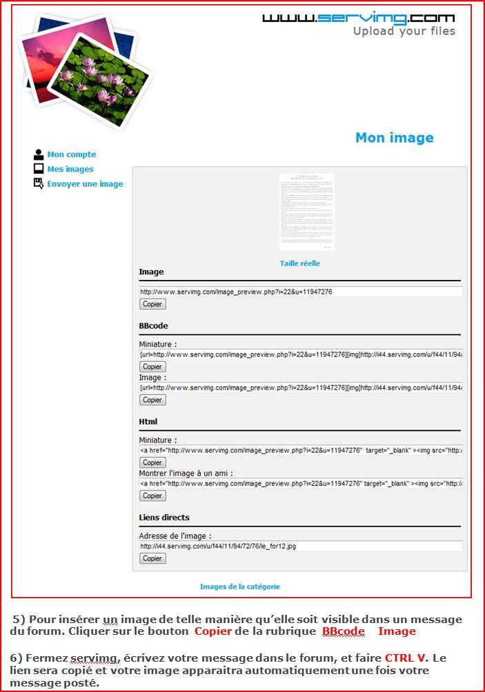 Comment insérer une image dans vos messages ? Telech11
