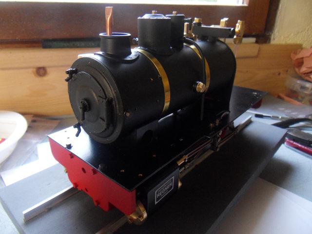 Emma steam locomotive build Emma3410