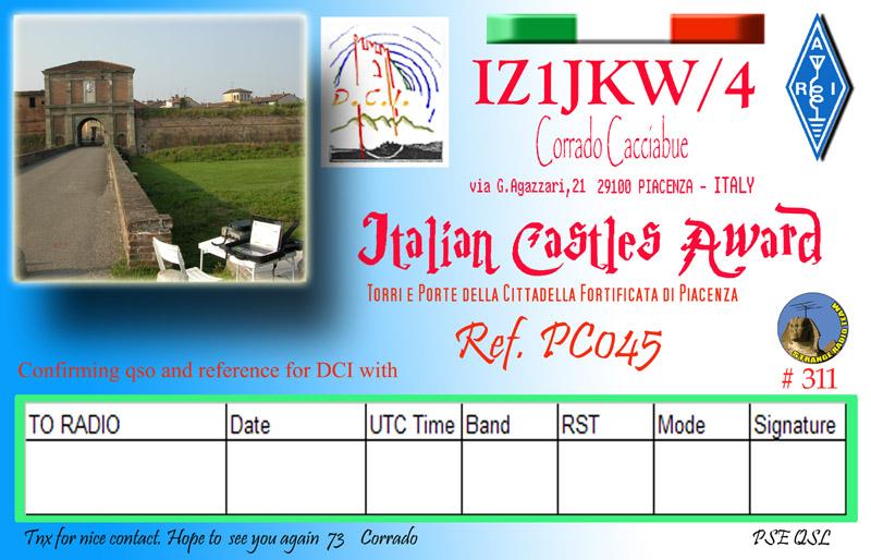 Diploma Castelli Italiani DCI PC045 Iz1jkw12