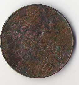 Francia, 10 céntimos, 1911 210