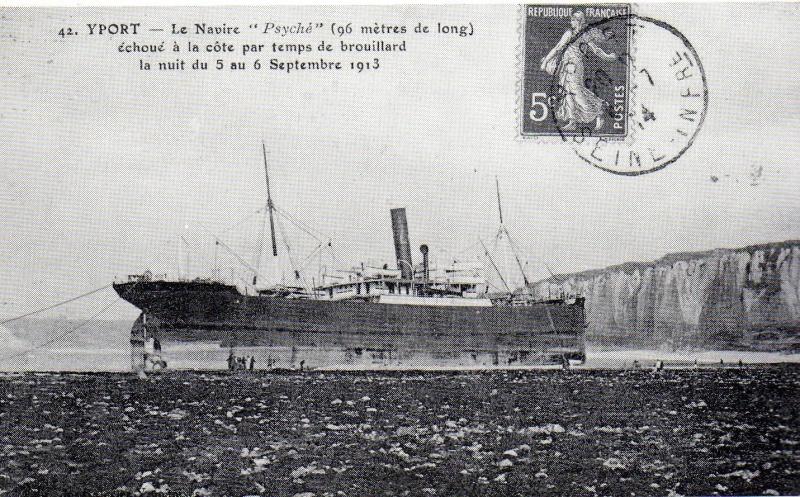 Yport - 1913 - Quai Southampton, Visite Poincaré au Havre, Fauville ... Psyche10
