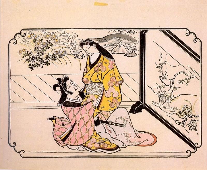 Японская гравюра Morono10