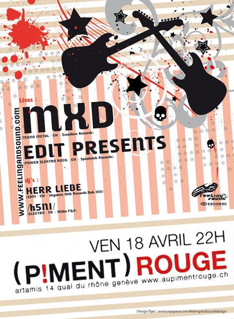 18.04 ::: Electro Rock Metal @ Piment Rouge - Geneve Flyer_10