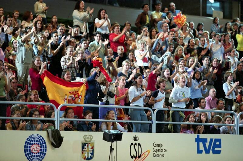 championnats du monde Madrid 2001 Public10