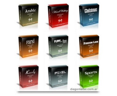 Pack de 838 polices gratuit Packfo10