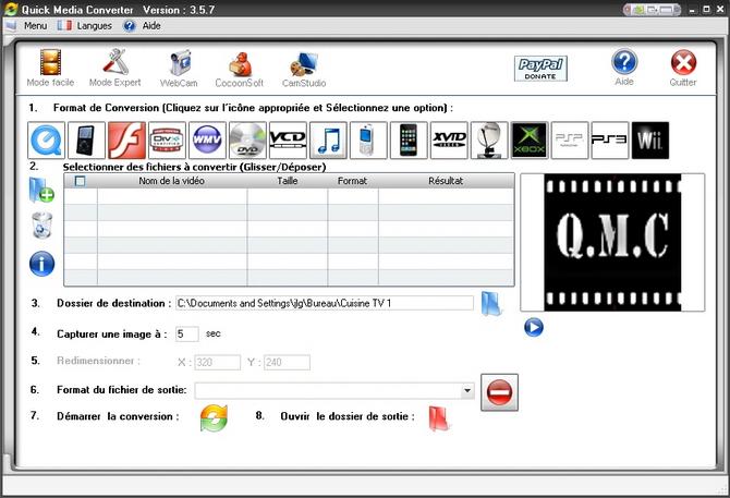 Quick Media Converter-conversion de médias Audio et Vidéo Qmc35710