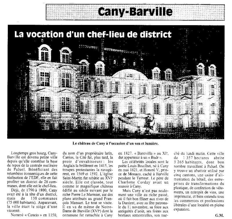 Histoire des communes - Cany-Barville Cany-b11
