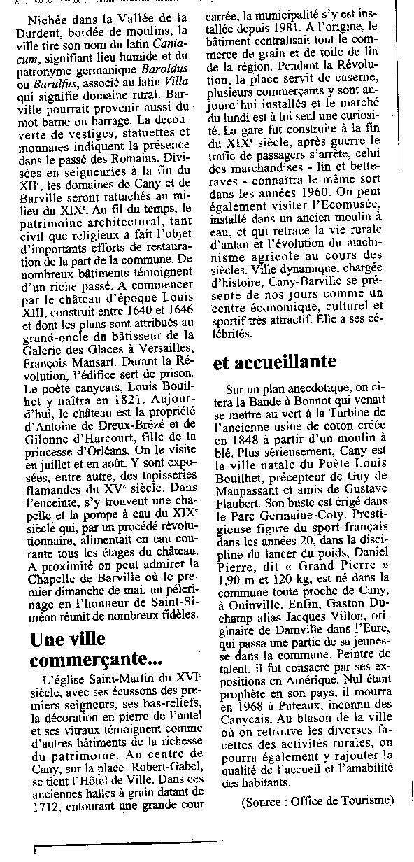 Histoire des communes - Cany-Barville Cany-b12