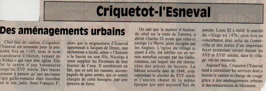 criquetot - Histoire des communes - Criquetot-l'Esneval Crique13