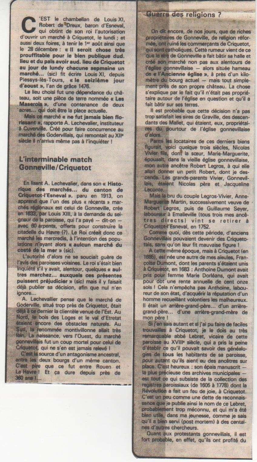 criquetot - Histoire des communes - Criquetot-l'Esneval Crique14