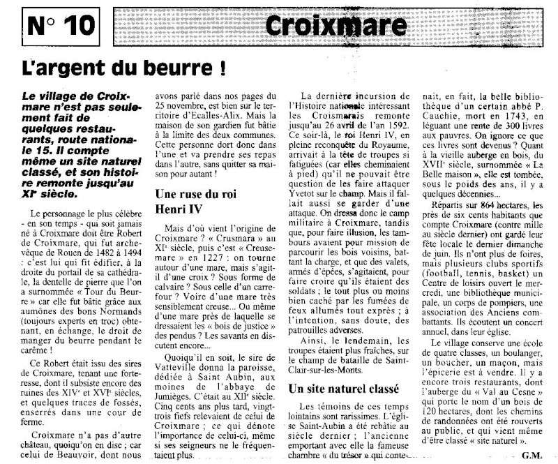 Histoire des communes - Croixmare Croixm10