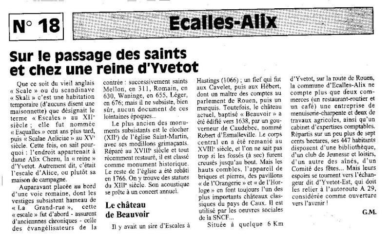 Histoire des communes - Ecalles-Alix Ecalle10