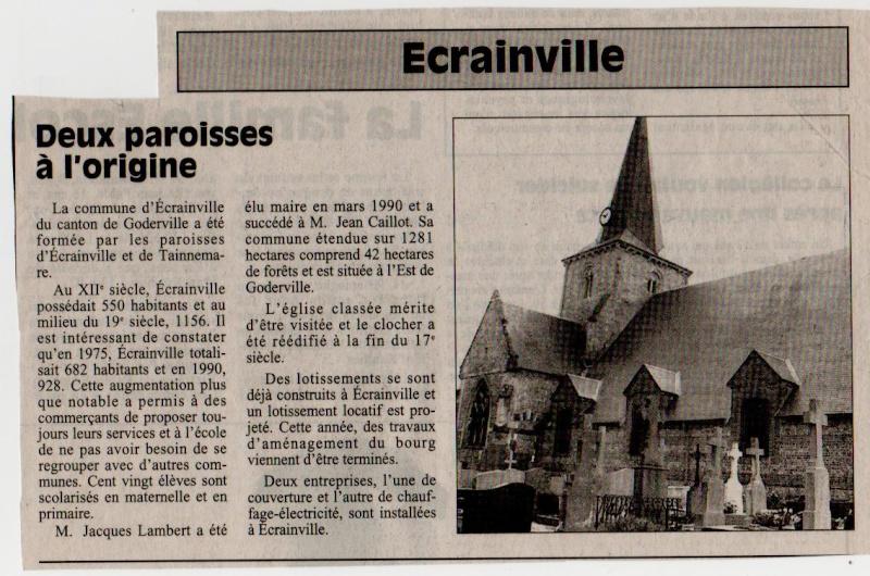 Histoire des communes - Ecrainville Ecrain10