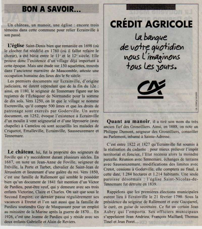 Histoire des communes - Ecrainville Ecrain11