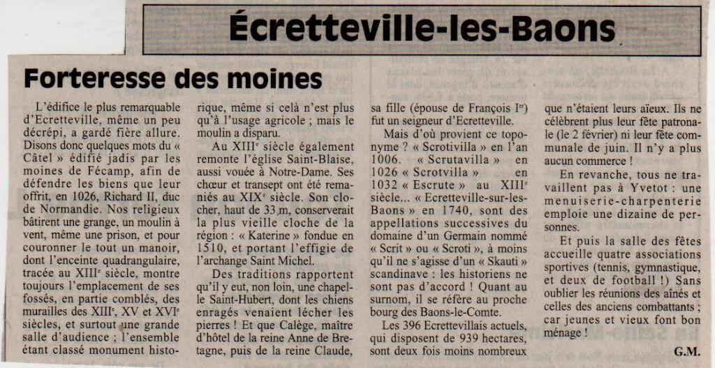 Histoire des communes - Ecretteville-les-Baons Ecrett10