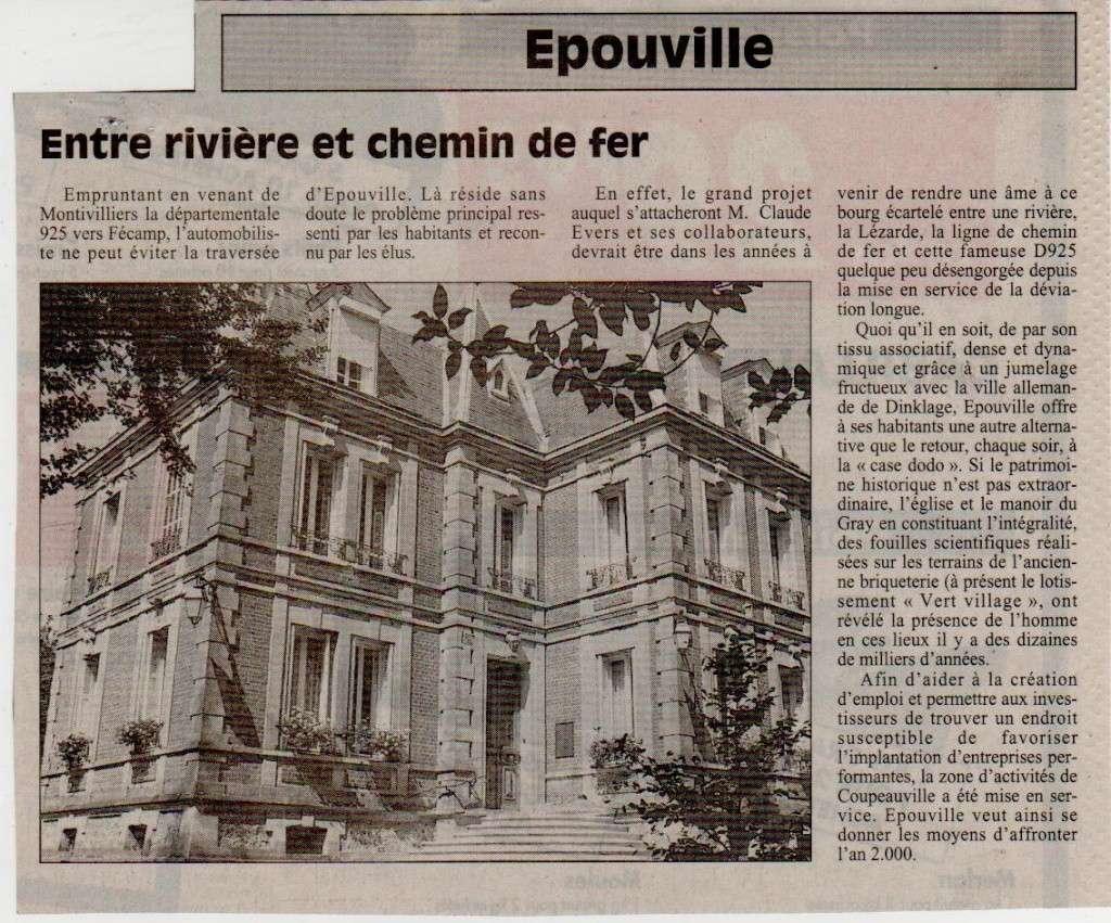Histoire des communes normandes - Epouville Epouvi11