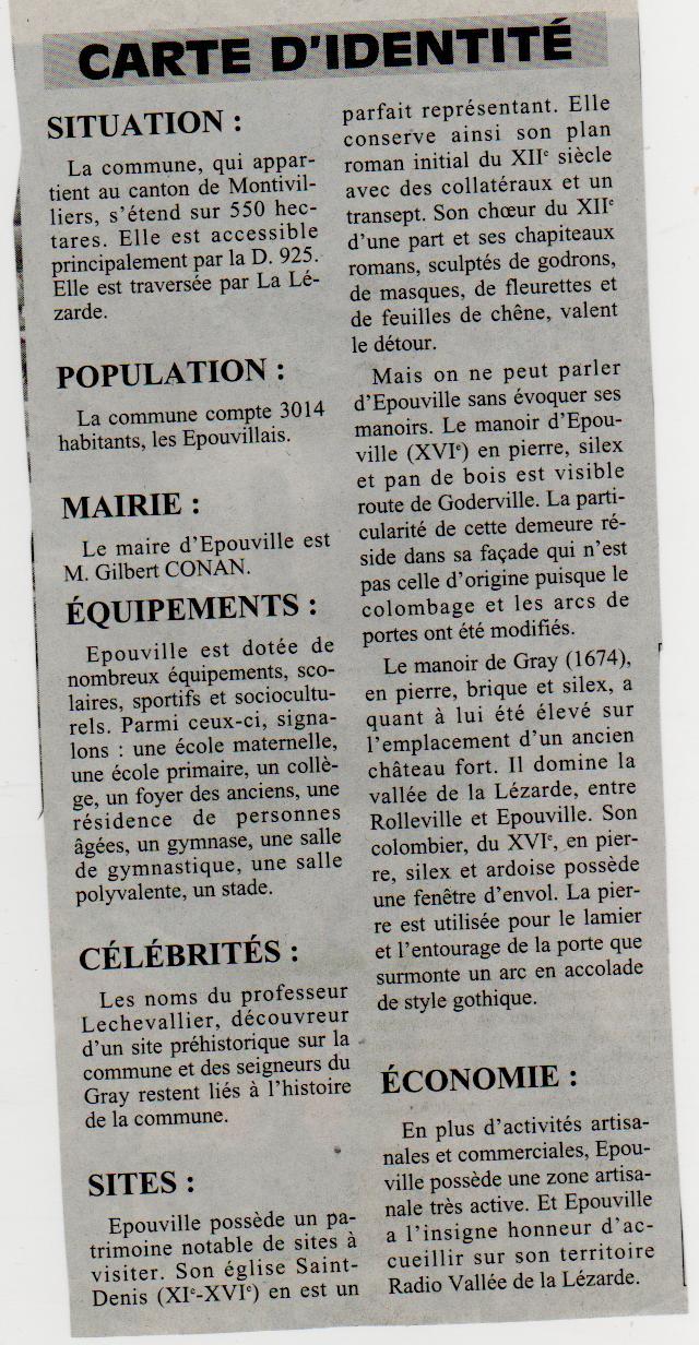 Histoire des communes normandes - Epouville Epouvi12