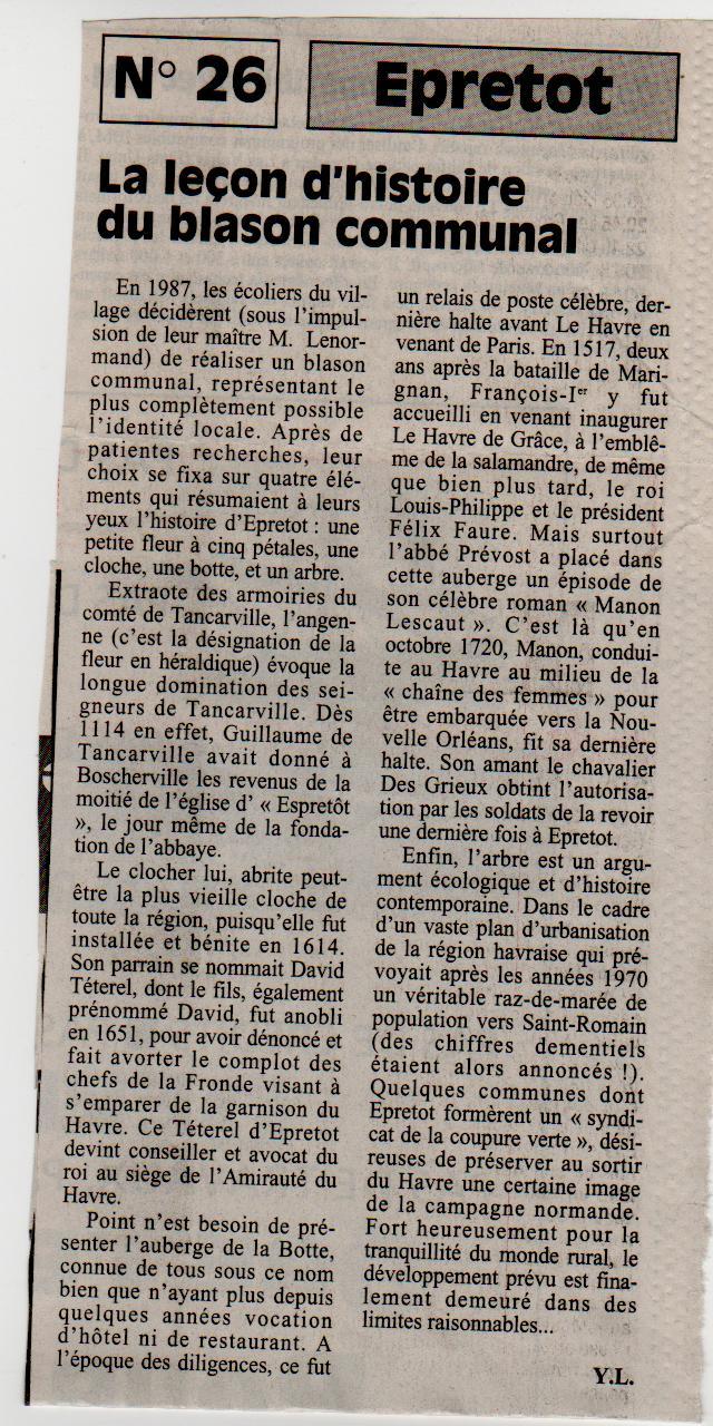 Histoire des communes - Epretot Epreto15