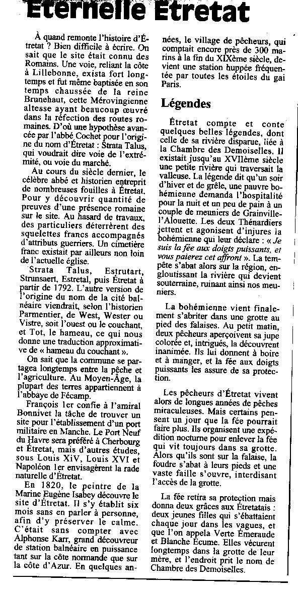 Histoire des communes - Etretat Etreta10