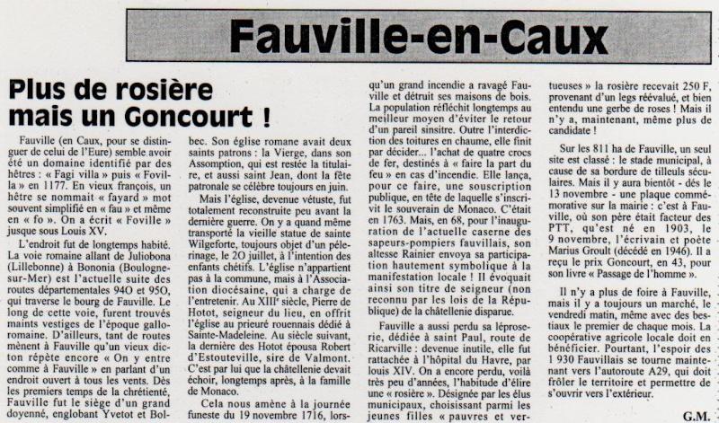 Histoire des communes - Fauville-en-Caux Fauvil10