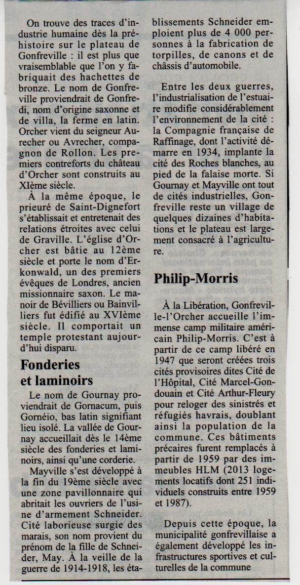 Histoire des communes - Gonfreville l'Orcher Gonfre10