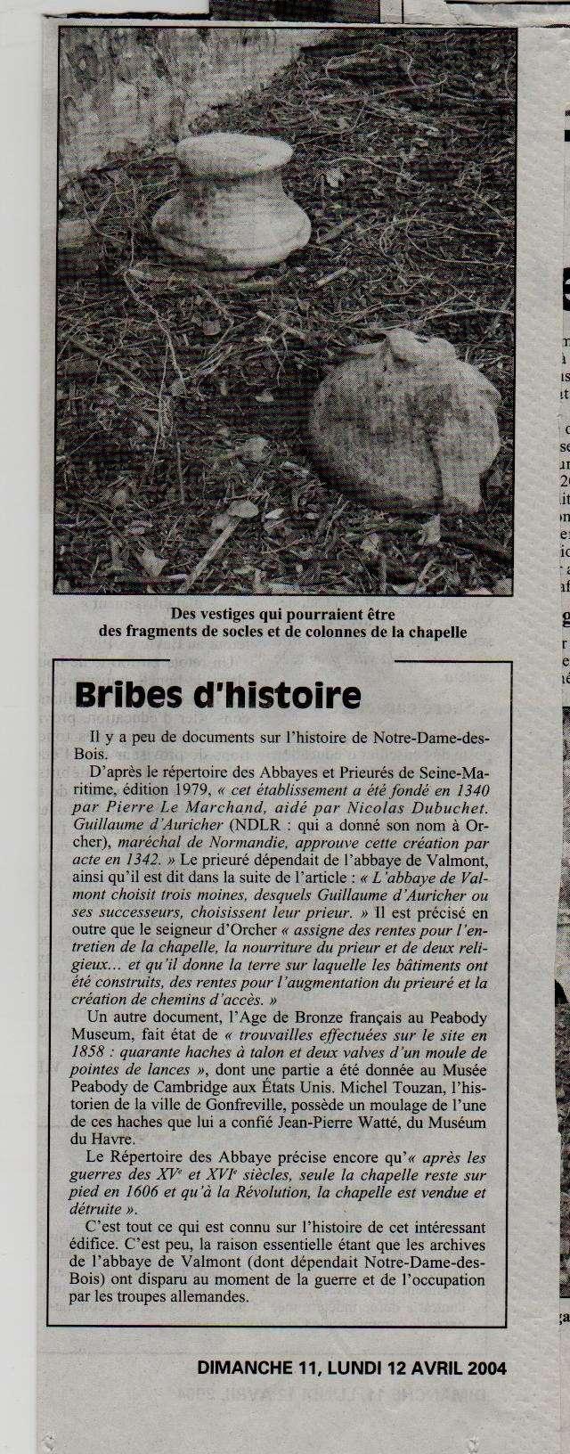 Histoire des communes - Gonfreville l'Orcher Gonfre16