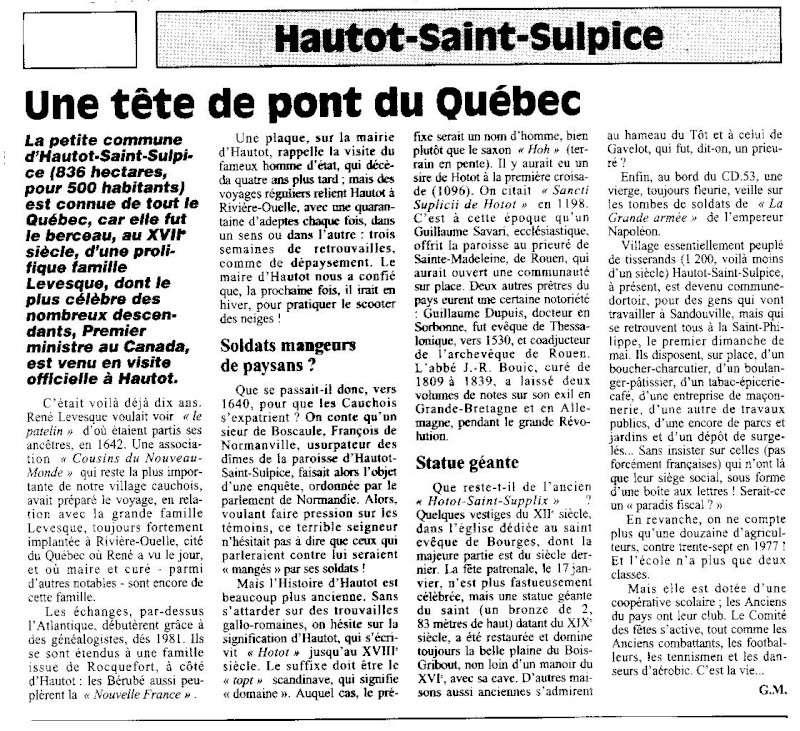 hautot - Histoire des communes - Hautot-Saint-Sulpice Hautot10