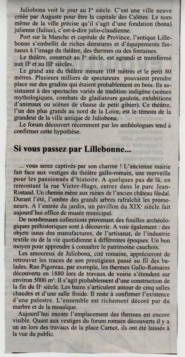Histoire des communes - Lillebonne Lilleb11