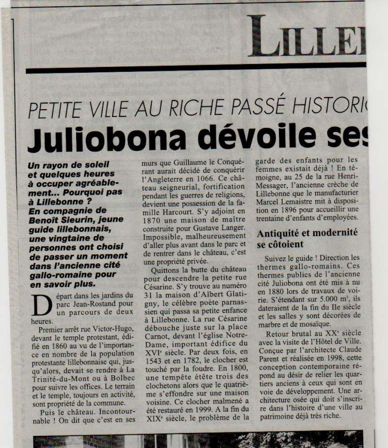 Histoire des communes - Lillebonne Lilleb21