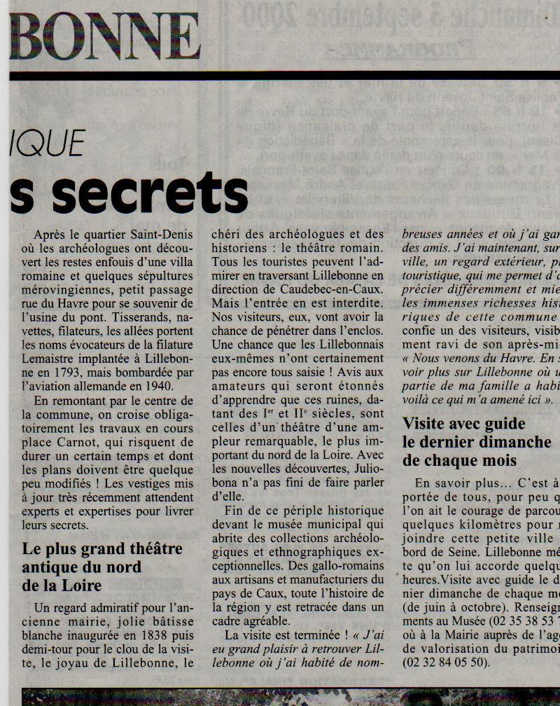 Histoire des communes - Lillebonne Lilleb22