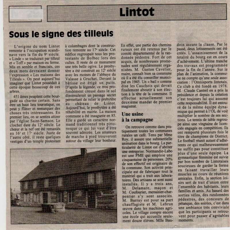 Histoire des communes - Lintot Lintot10
