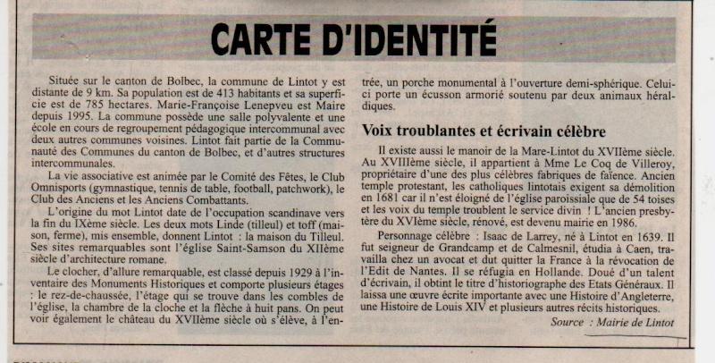 Histoire des communes - Lintot Lintot11