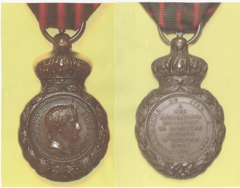 Pensionnaire du Roi et médaille de Sainte-Hélène Medail10
