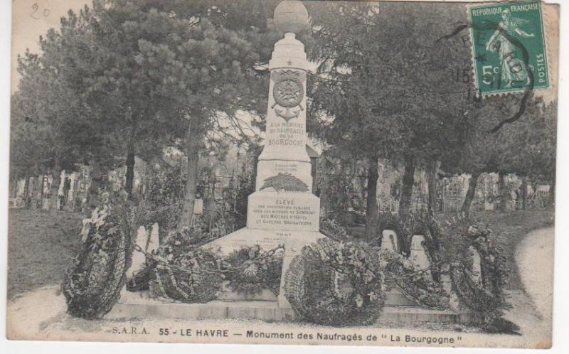 1898 - Naufrage de La Bourgogne, Boudin ... Monume11