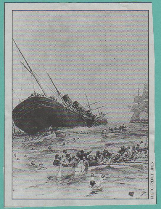 1898 - Naufrage de La Bourgogne, Boudin ... Naufra10