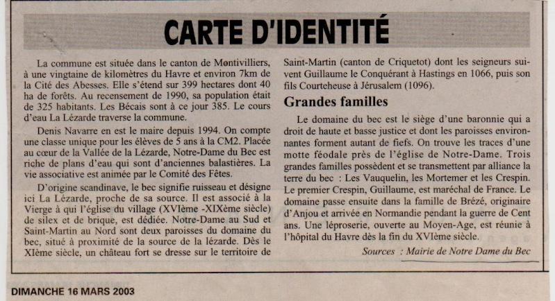 Histoire des communes - Notre-Dame du Bec Notre-13