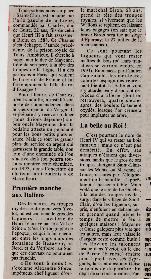 Histoire des communes - Saint-Clair-sur-les-Monts Saint-19