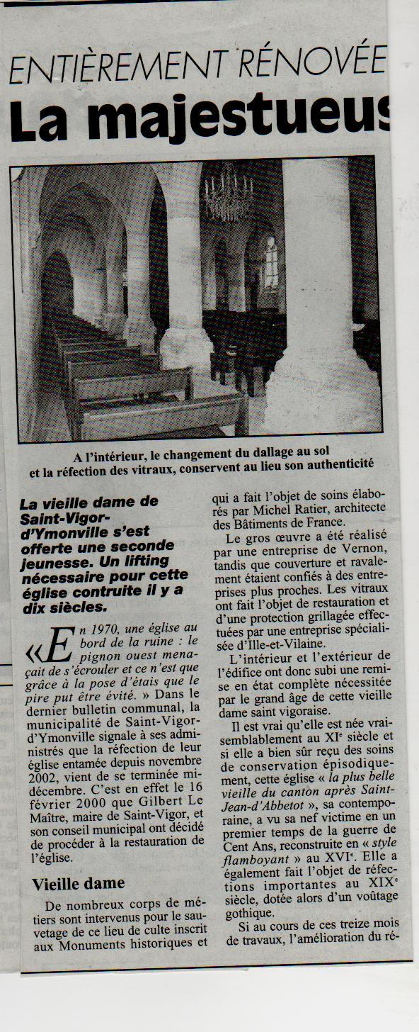 Histoire des communes - Saint-Vigor-d'Ymonville Saint-22